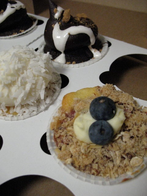Berry Crumbly, Coconut, and Moon Pie